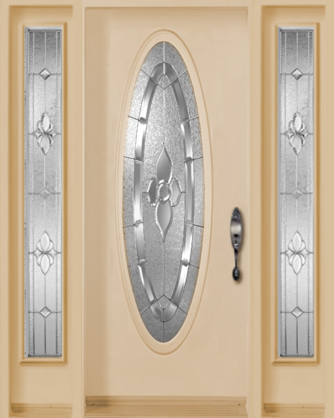 Standard Fiberglass Door Full Lite Wood Grain